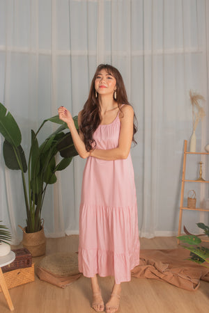Load image into Gallery viewer, * PREMIUM * - Ayeslia Drop Hem Maxi Dress in Pink - Self Manufactured by LBRLABEL