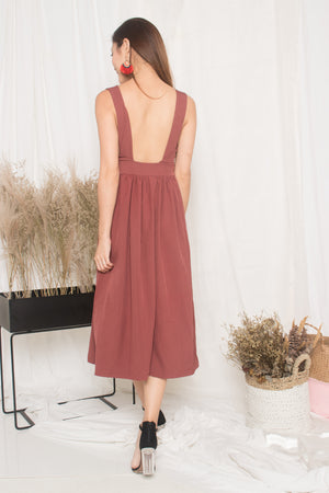 Maisie Low Back Dress in Blush