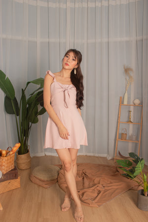 Load image into Gallery viewer, *PREMIUM* Kaylia Ribbon Dress Romper in Daisy Pink - Self Manufactured by LBRLABEL