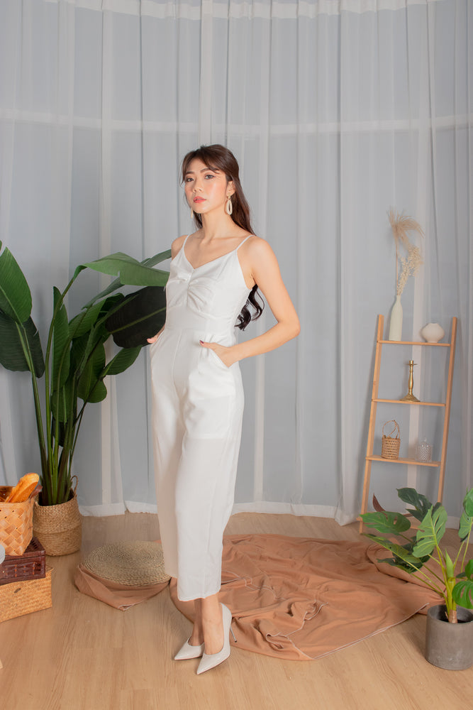 Load image into Gallery viewer, *PREMIUM* - Tiaralia Cami Jumpsuit in White