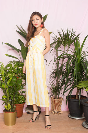 Nally Stripes Jumpsuit in Yellow