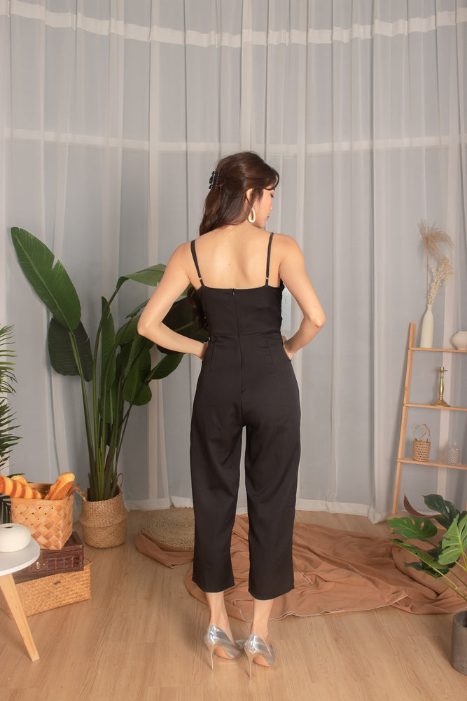Load image into Gallery viewer, *PREMIUM* - Tiaralia Cami Jumpsuit in Black