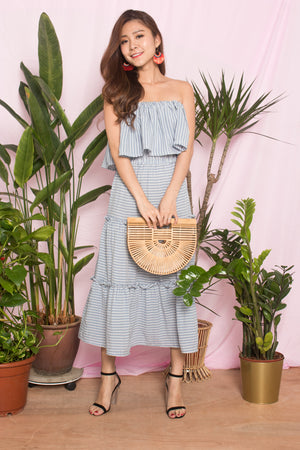 *LUXE* Merislyn Gingham Dress in Blue