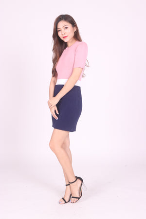Verfena Duo Tone Sleeve Dress