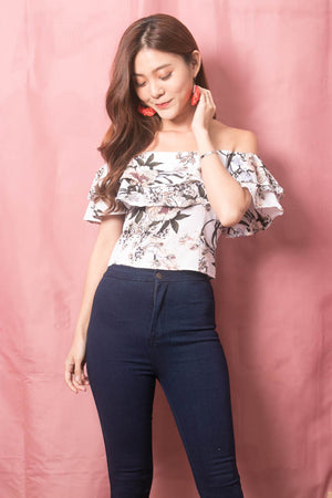 Luisee Floral 3 Ways Top in White