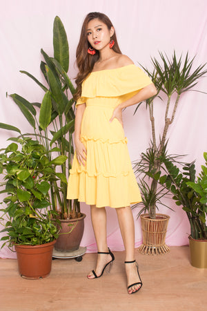 Gabina Layer Dress in Sunshine
