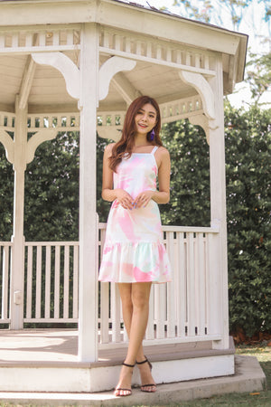 * PREMIUM * Parislia Brushstroke Dress in Pink - Self Manufactured by LBRLABEL