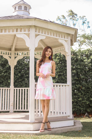 Load image into Gallery viewer, * PREMIUM * Parislia Brushstroke Dress in Pink - Self Manufactured by LBRLABEL