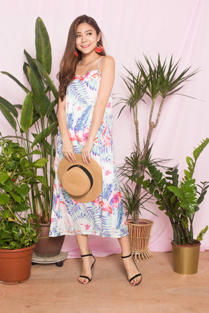 Floer Printed Flamingo Dress