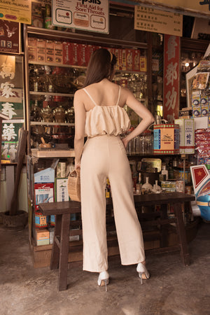 Load image into Gallery viewer, * PREMIUM * - Joannlia Puffy Top in Nude - Self Manufactured by LBRLABEL only