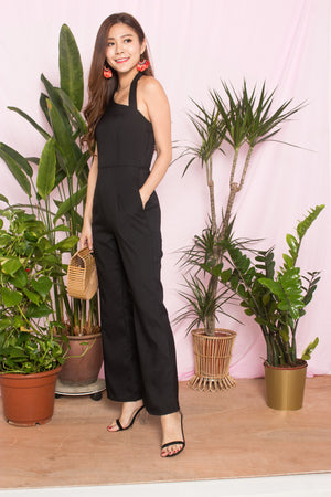 Aecia Halter Jumpsuit in Black