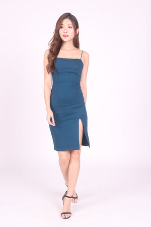 *PREMIUM* Cerdilia Cami Two Ways Dress in Teal - LBRLABEL MANUFACTURED