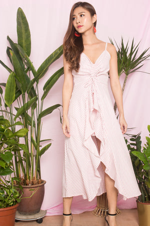 *LUXE* Zelia Stripes Dress in Pink