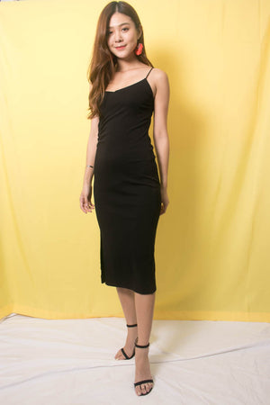 Lorna Basic Cami Dress in Black