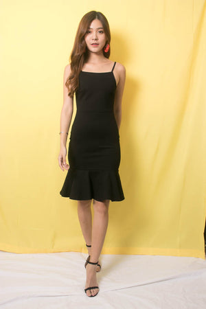 * PREMIUM * TALIA CAMI MERMAID DRESS IN BLACK - SELF MANUFACTURED BY LBRLABEL