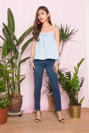 Muliah Spag Top in Blue