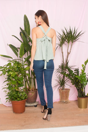 Ceira Babydoll Top in Mint