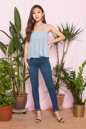 Ceira Babydoll Top in Blue