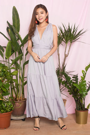 (BO) LUXE - PARIS LOVER DO IT YOURSELF MAXI DRESS IN GREY