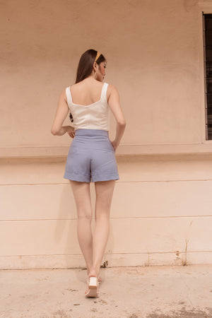 Load image into Gallery viewer, *PREMIUM* - Coralia Shorts in Periwinkle - Self Manufactured by LBRLABEL