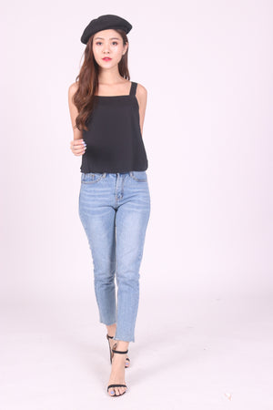 Sandie Basic Top in Black