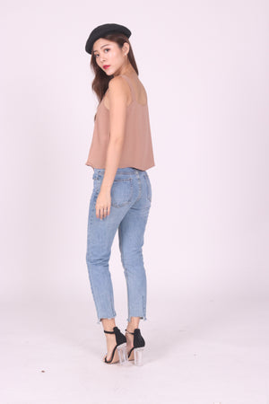 Sandie Basic Top in Khaki
