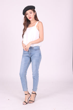 Sandie Basic Top in White