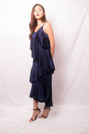* LUXE * Desarah Layer Dress in Navy
