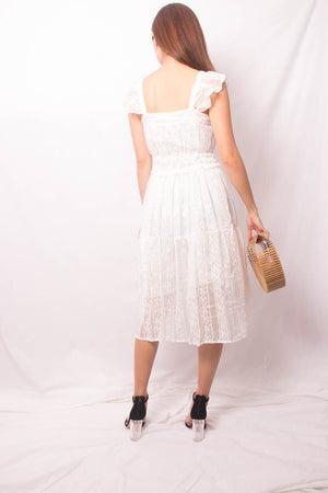 Load image into Gallery viewer, Luiesa Crochet Dress in White