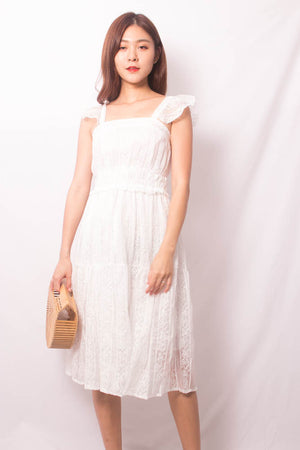 Luiesa Crochet Dress in White
