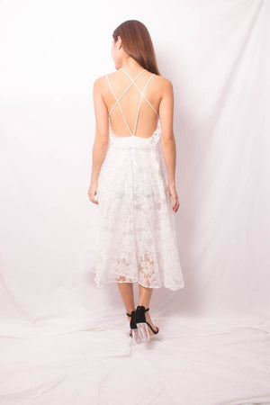 Load image into Gallery viewer, * LUXE * Agnes Crochet Low Back Dress