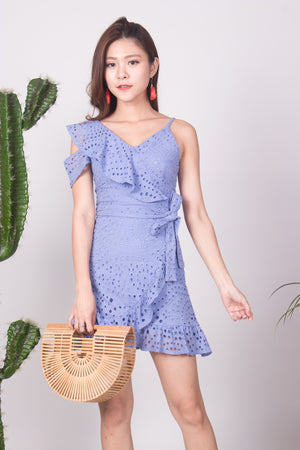 Najesla Crochet Dress in Periwrinkle