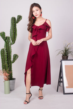 *LUXE* Mandiesa Flutter Gown Dress