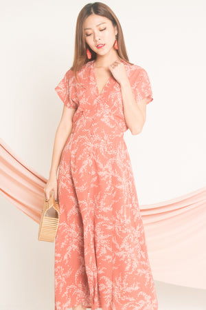 Seri Printed Maxi Dress in Blush