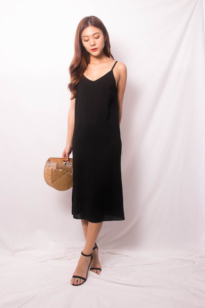 Load image into Gallery viewer, Niedra Cami Dress in Black