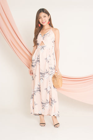 Adella Floral Maxi Dress in Pink