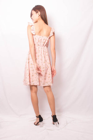 * PREMIUM * FEALIA TWO WAYS FLORAL DRESS IN PINK - SELF MANUFACTURED BY LBRLABEL