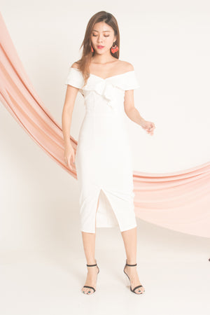 Load image into Gallery viewer, Helna Offsie Dress in White