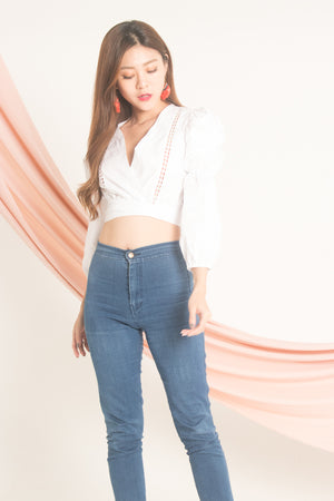 Jessilee Eyelet Top in White
