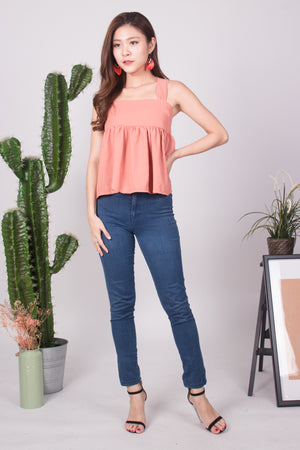 CEIRA BABYDOLL TOP IN BLUSH
