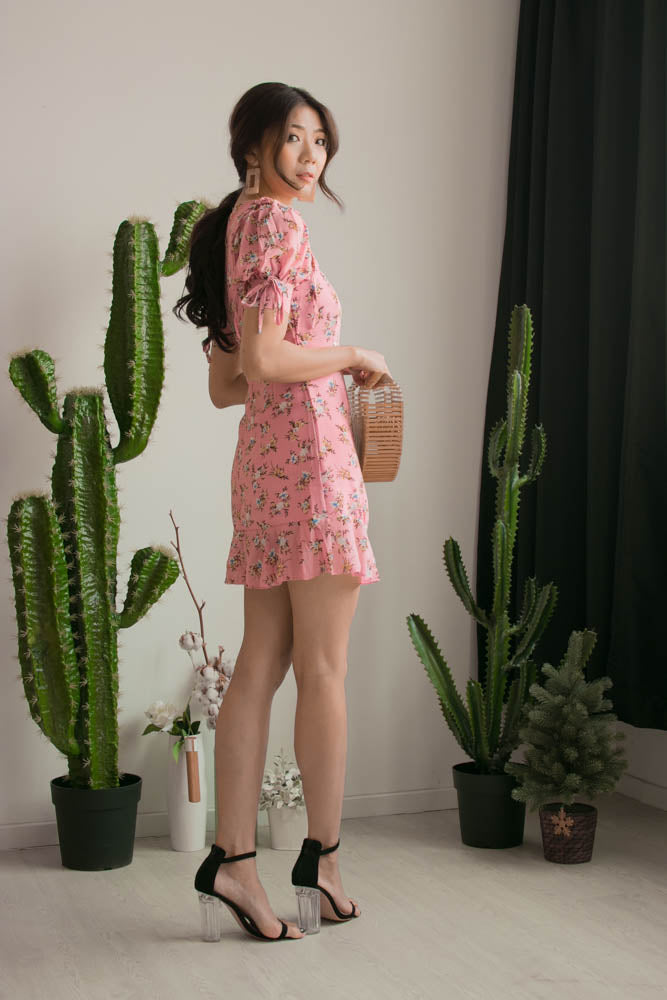 Load image into Gallery viewer, Kelly Floral Dress in Pink
