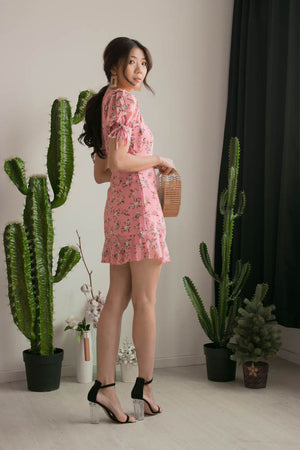 Kelly Floral Dress in Pink