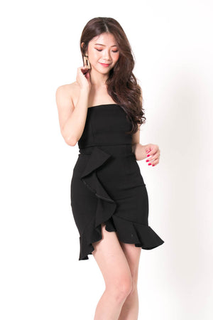 * PREMIUM * Dezelia Bustier Dress in Black - Self Manufactured by LBRLABEL