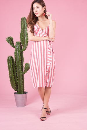 Load image into Gallery viewer, *LUXE* Zeola Stripes Dress in Pink