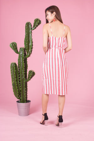 *LUXE* Zeola Stripes Dress in Pink