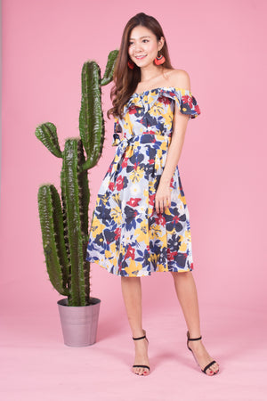 Mierally Splash Floral Dress