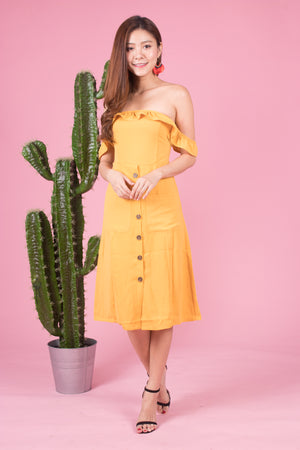 *LUXE* Bellariea Button Down Offsie Dress
