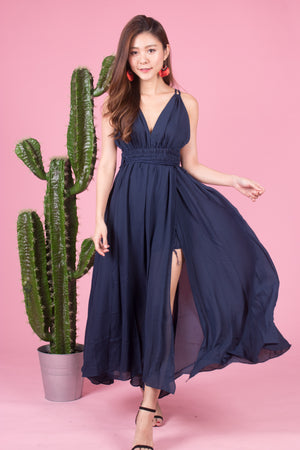 *LUXE* Berlynia Gown Dress in Navy
