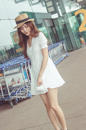 Voralle Crochet Dress in White