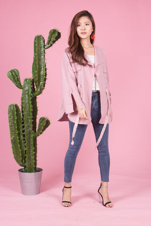 Irela Parka in Dusty Pink